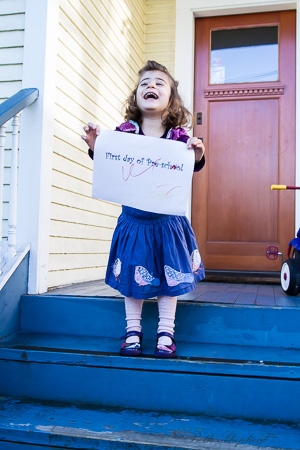 First day of pre-school 4