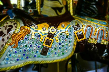 Carousel horse detail