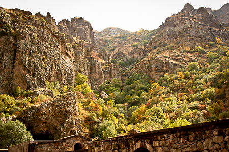 Geghard Armenia autumn