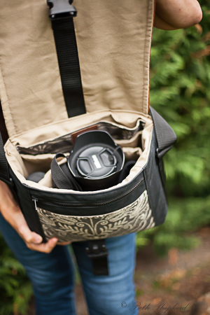 Camera inside Porteen bag
