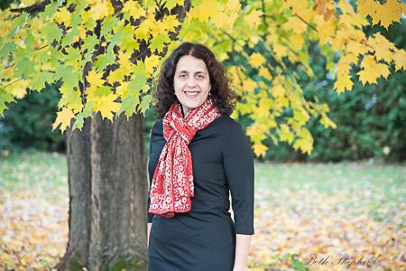 Ponte dress with scarf