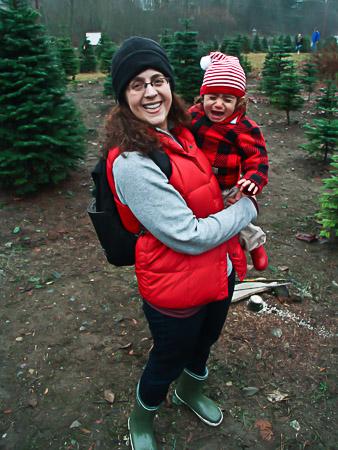 Christmas tree hunting 2012