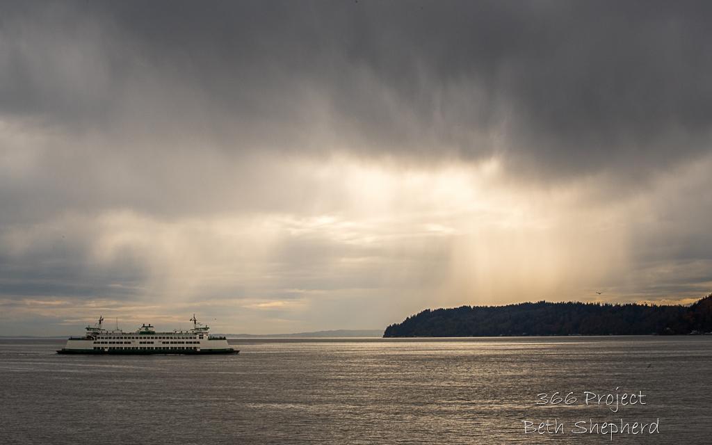 rainstorm and ferry