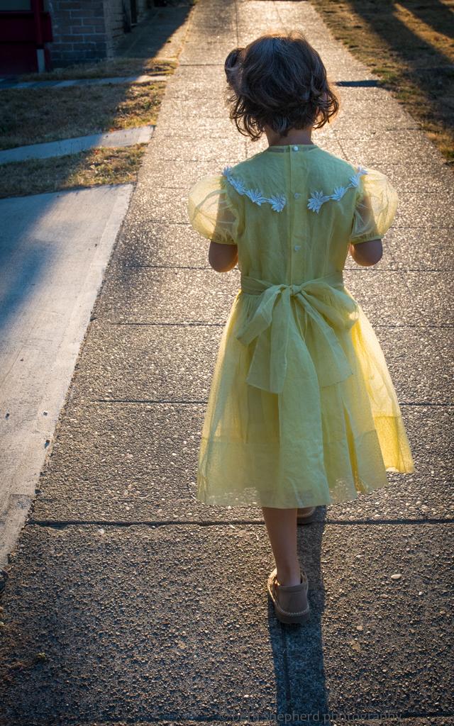 daughter in dress