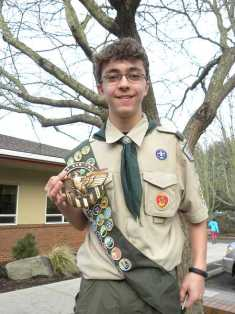 Photo Credit: SPOKESMAN PHOTO: KATE HOOTS - Dawson Durig is working on an ambitious project to earn his Eagle Scout award. His project will honor veterans interred at Pleasant View Cemetery.