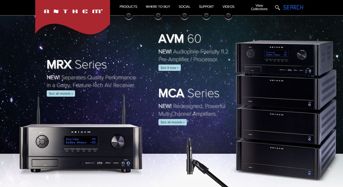 Anthem AV Website
