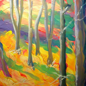 Aspen Grove 1, oil on claybord © Pam Van Londen 2011