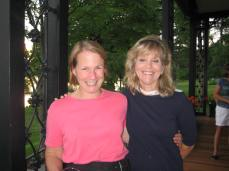 With Debbie Olsson Stocker at the Wells College Reunion