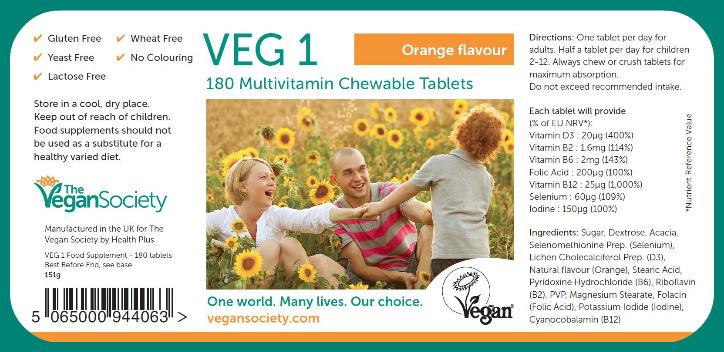 Veg1-kosttilskudd for veganere