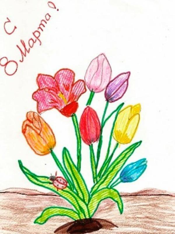 """Σχέδιο συγχαρητηρίων """"Καλή 8 Μαρτίου!"""""""