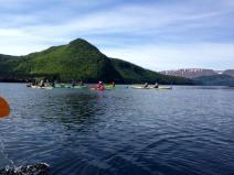 Group Kayaking by Caroline Swan