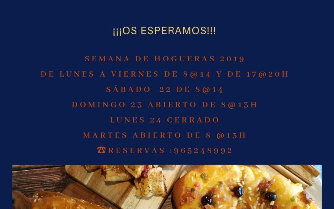 Horario Hogueras Alicante 2019
