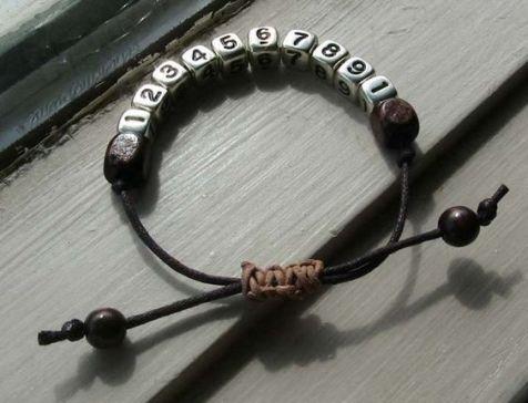 bracelet numéro de téléphone macramé (1)