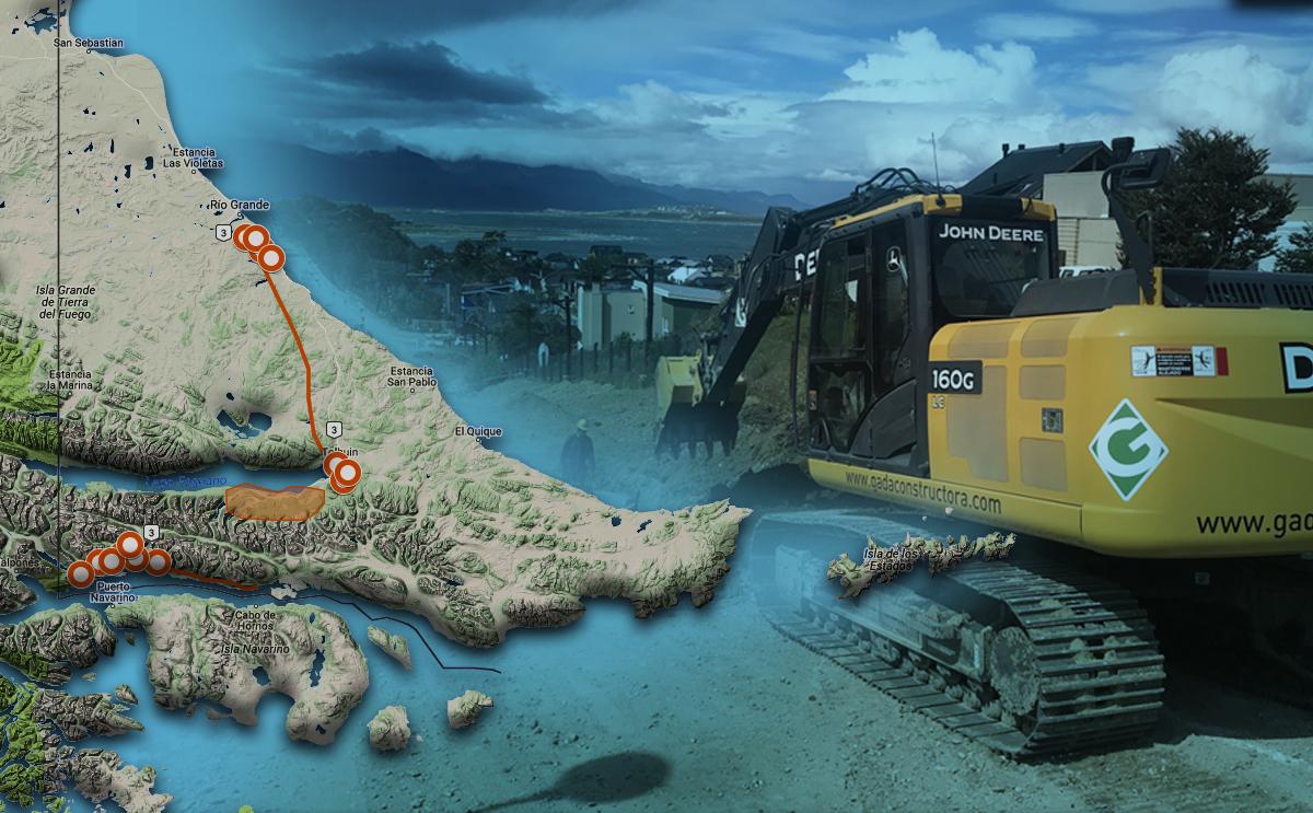 Georeferenciación de obras públicas en TDF y mapeo público de avances