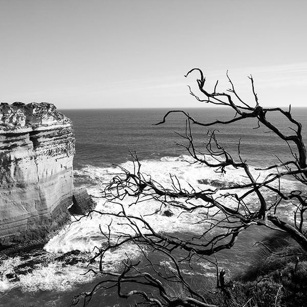 The rugged coast of the Great Ocean Road