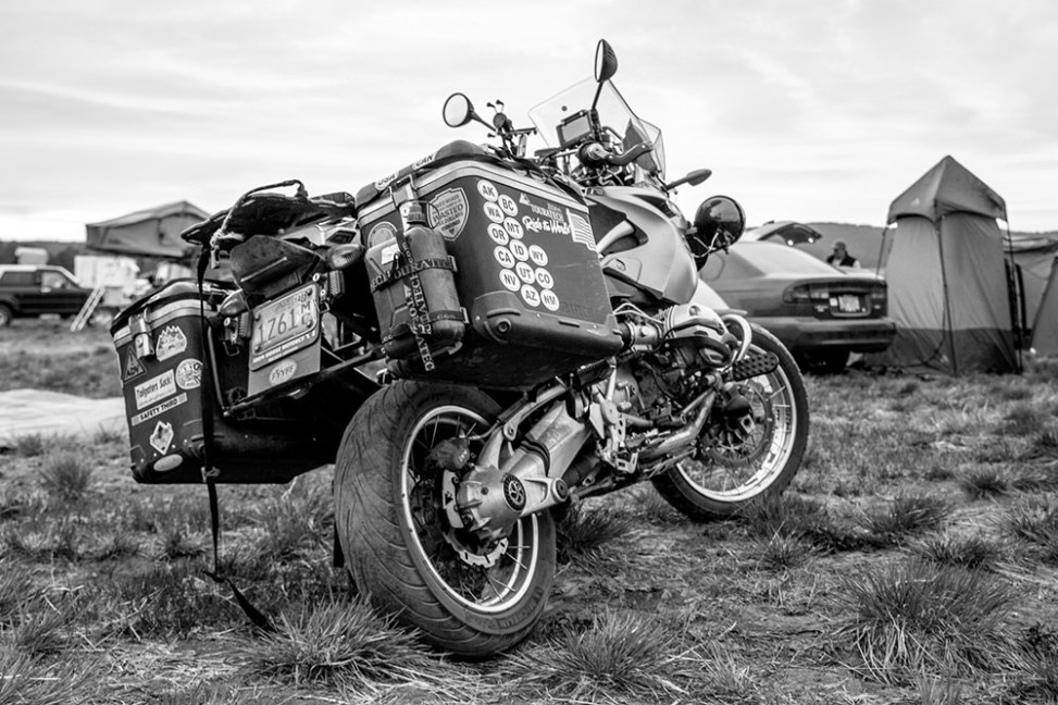 A well travelled motorcyle
