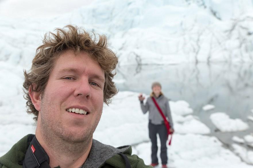 At the Matanuska Glacier