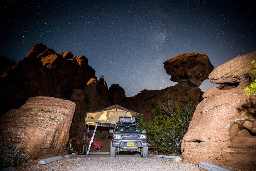 Camping in the Valley of Fire, Nevada