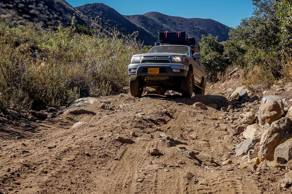 Driving the back roads of Baja—Photo courtesy of Dace and Peter at iizaicinajums.com