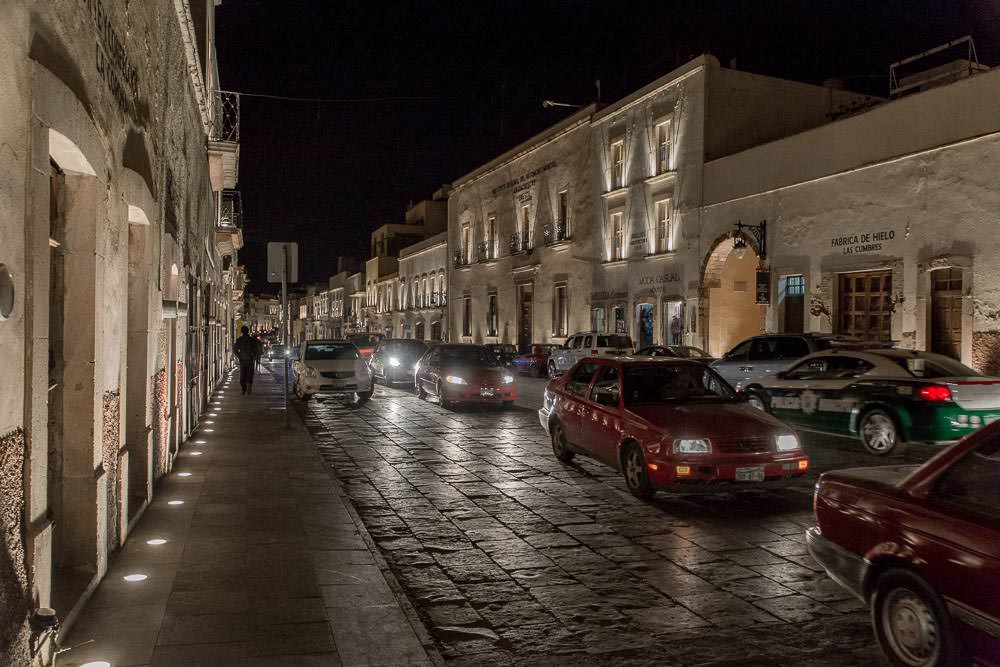 Zacatecas after dark.