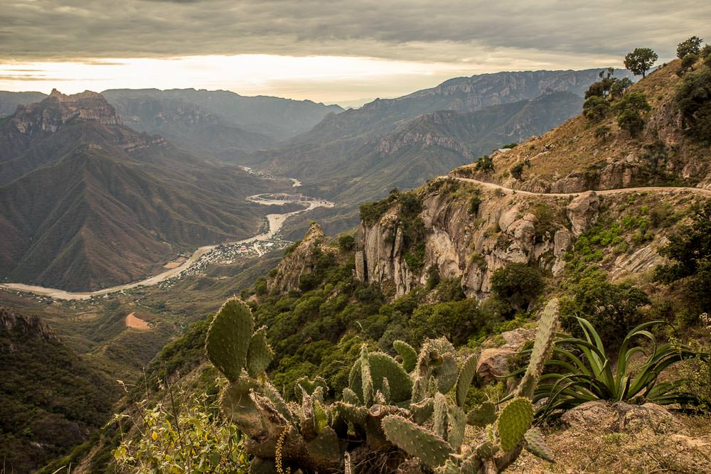 Looking back down into Urique Canyon.