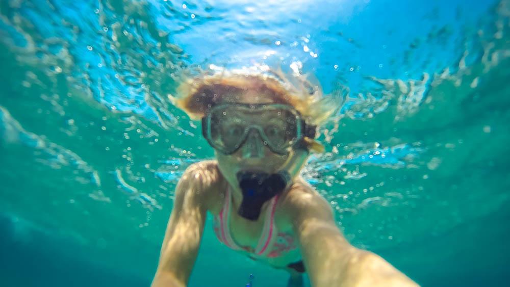 Dorky underwater snorkel pic.