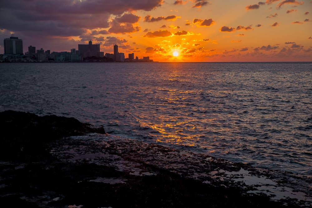 Sunset from the Malecon