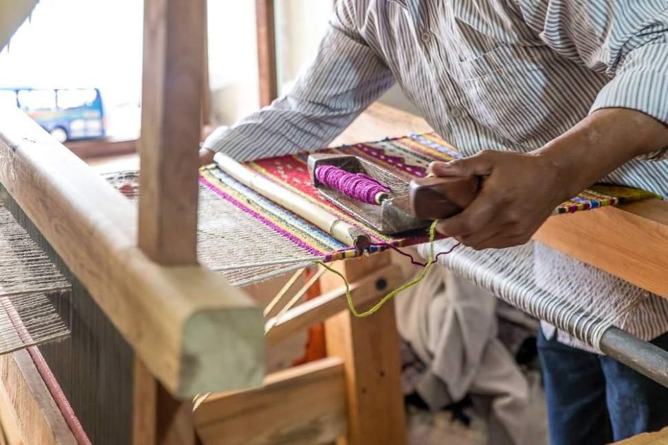 Weaving is complicated work.
