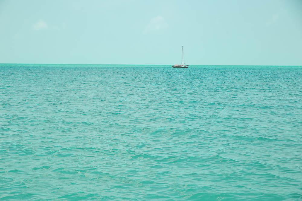 Ocean, sky, sunshine, paradise.