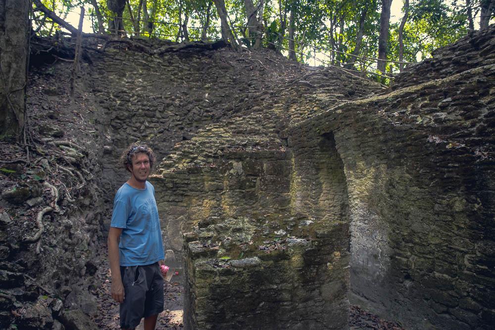 Ben explores the expansive ruins.