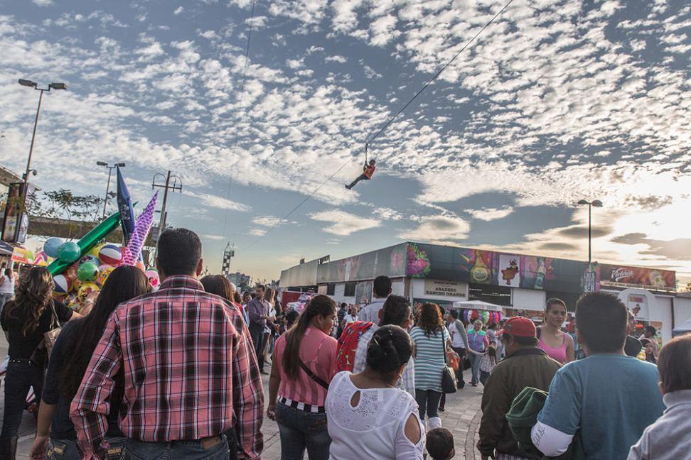 The state fair had a zipline!