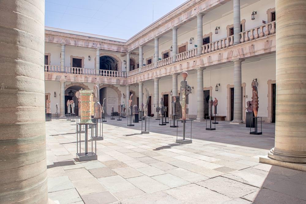 The central patio of the Alhóndiga de Granaditas