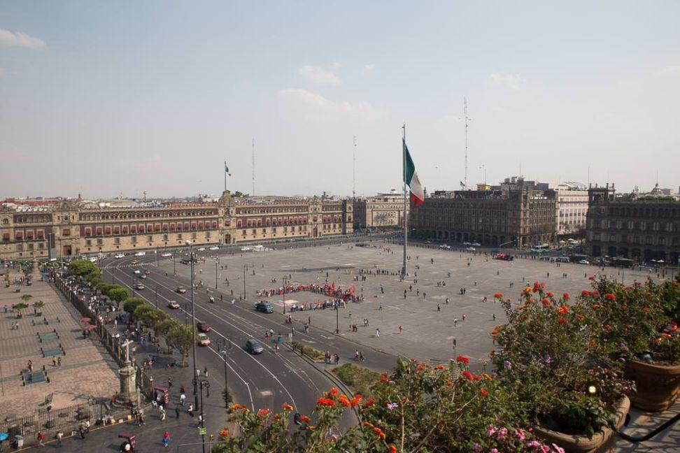 The Zócalo.