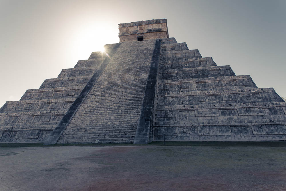 The pyramid of Kukulcan, also known as El Castillo is considered to be one of the seven wonders of the world.