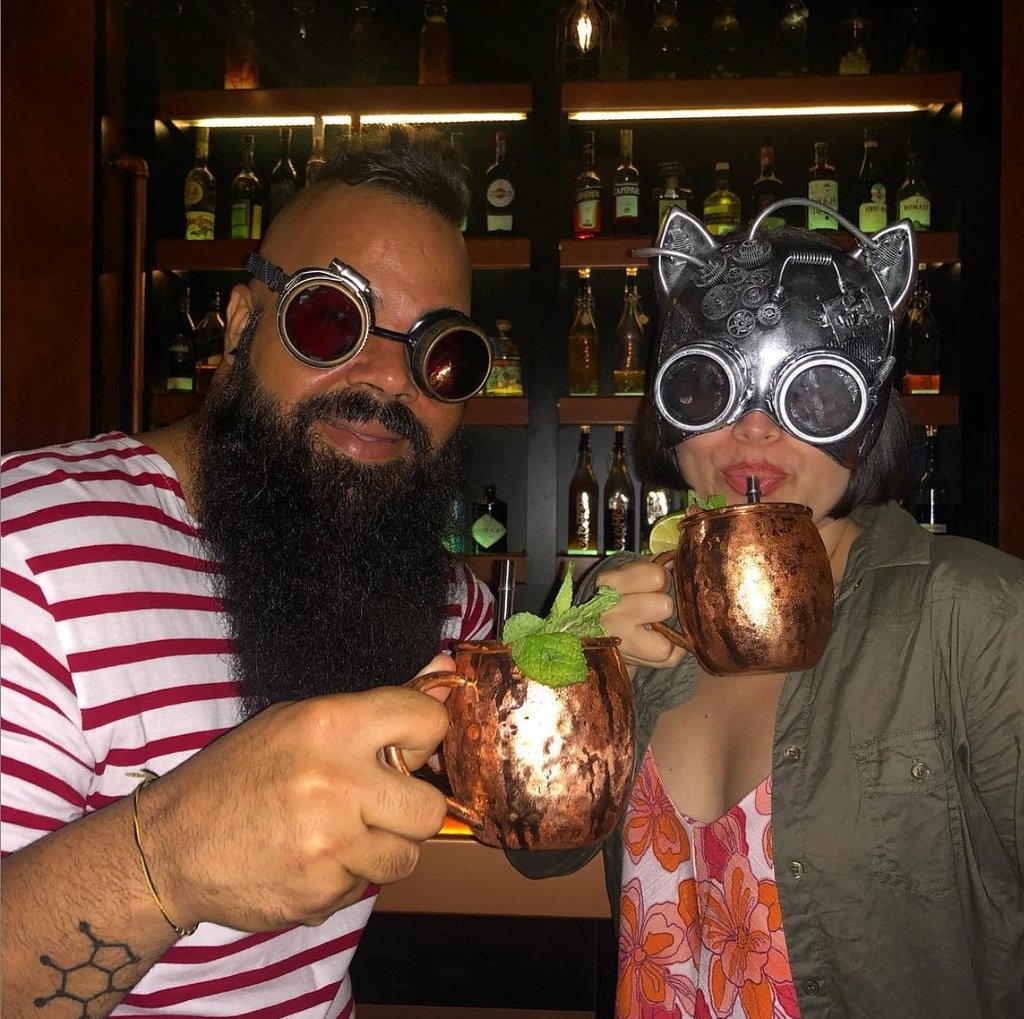 Those who visit can dress up as Jules Verne at Element Bar