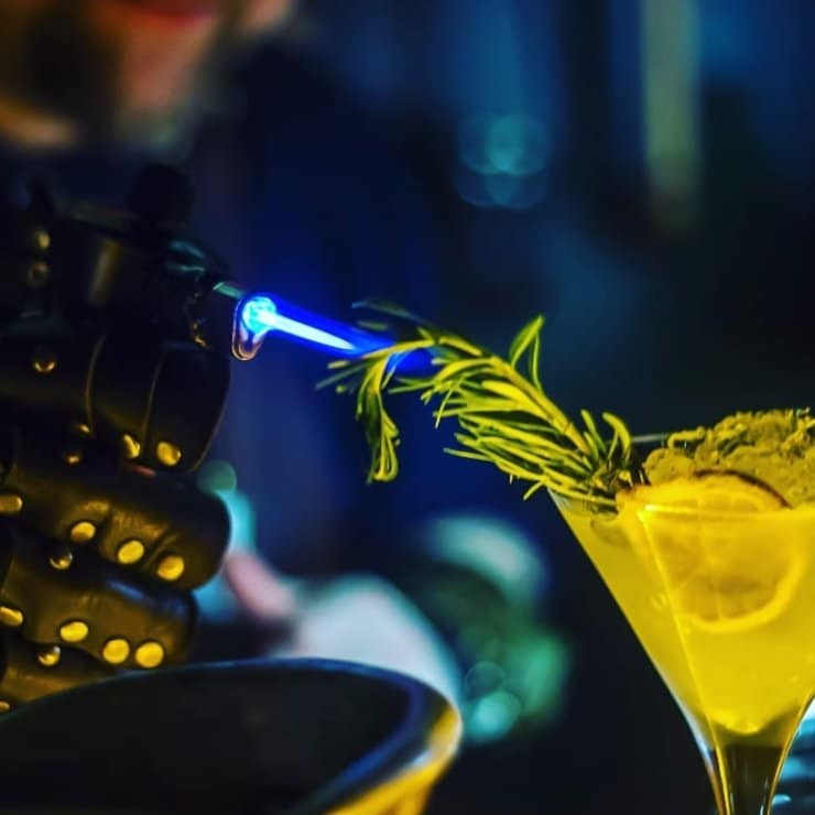 They use rare tools like a blowtorch to burn some cocktails