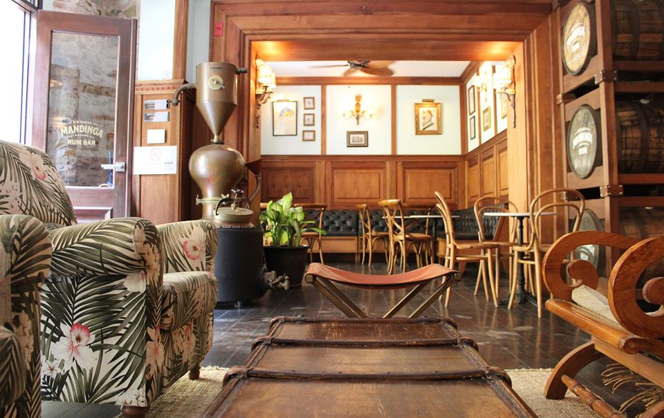 Decor at Pedro Mandinga Rum Bar is quite tropical with comfortable furniture and lots of wood