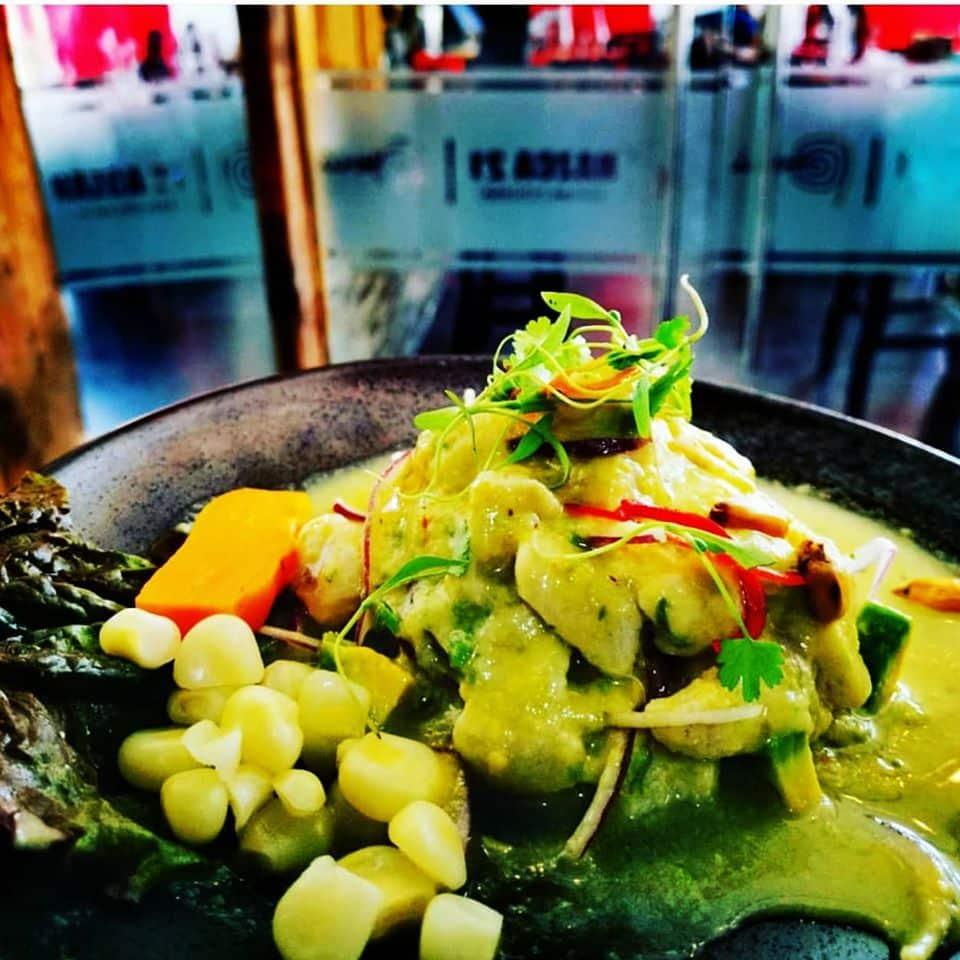 Ceviche de corvina con leche de tigre y aguacate del restaurante Nazca 21