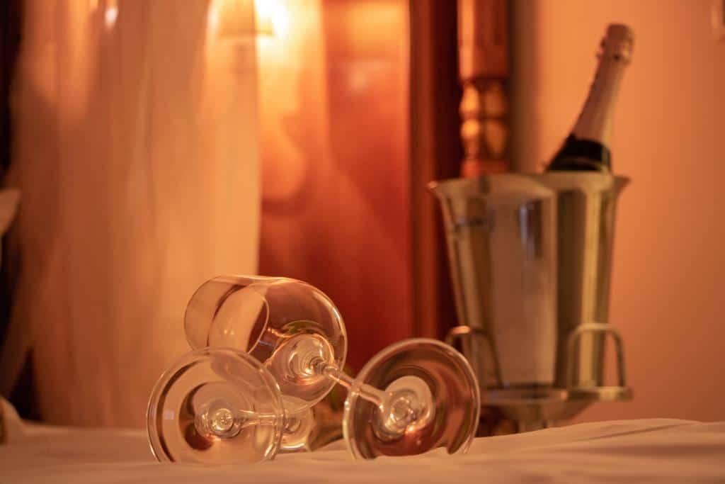 Champagne in the room at Villa Palma Boutique Hotel