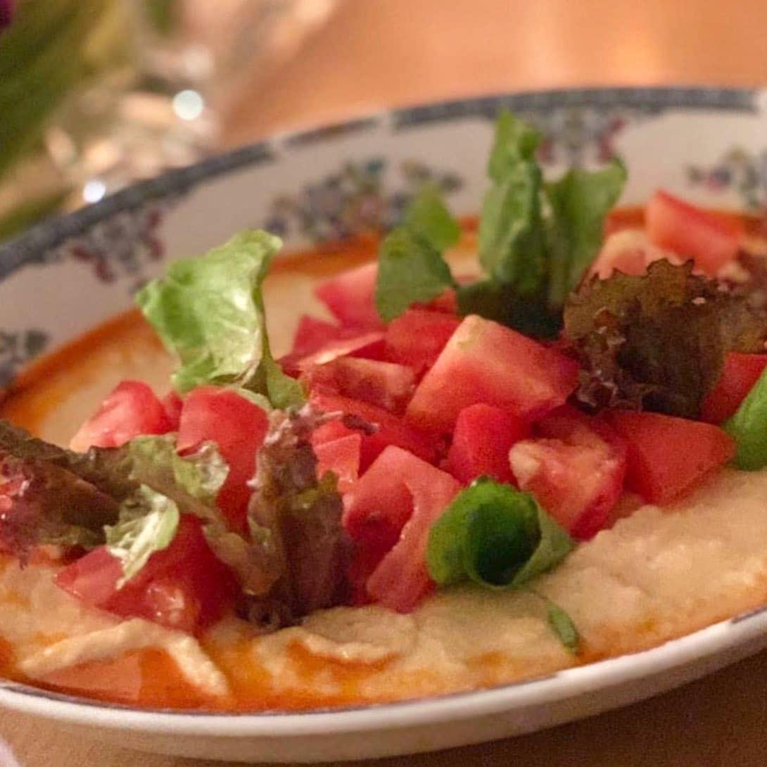 Hummus of the MED restaurant of Villa Palma Boutique Hotel