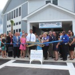 Chamber ambassadors gather to celebrate the grand opening the Bay Haven Charter Elementary School.