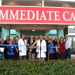 Chamber Ambassadors gather to celebrate the grand opening of the Gulf Coast Regional Medical Center Immediate Care Unit.