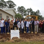Chamber Ambassadors gather to celebrate the Hope Cancer Treatment Center ground breaking.