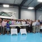 Chamber ambassadors gather to celebrate the grand opening of Legendary Marine.