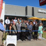 Chamber ambassadors gather to celebrate the re-grand opening of McDonalds.