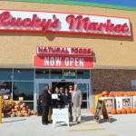 Chamber ambassadors gather to celebrate the grand opening of Lucky's Market.