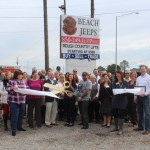 Chamber ambassadors gather to celebrate the grand opening of Beach Jeeps.