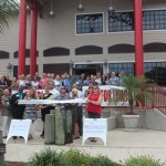Chamber Ambassadors gather to celebrate the grand opening of the Shrimp Boat.