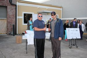 """Lynn Haven Fire Rescue's team, """"Sheets and Ladders,"""" wins third place."""