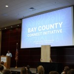 Dana Kerrigan, with Kerigan Marketing Associates, Inc., represents the Leadership Class of 2018, presenting their class project - the Bay County Connect Initiative.